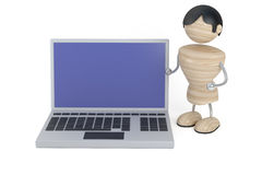 Man and laptop Royalty Free Stock Photos