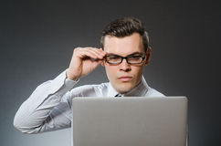 The man with laptop in business concept Royalty Free Stock Photography