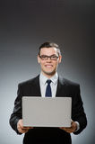 The man with laptop in business concept Royalty Free Stock Photos