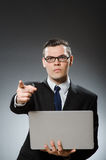 The man with laptop in business concept Stock Photo