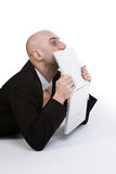 Man with Laptop Computer Stock Image