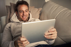 Man with laptop. Stock Images