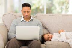 Man laptop home Royalty Free Stock Image