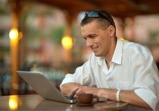 Man with laptop Stock Photos