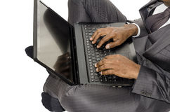 Man and laptop Royalty Free Stock Photo