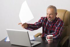 Man at the laptop Royalty Free Stock Image