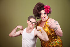 Man With Large Drag Queen Stock Photos