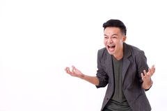 Man laughing with blank space for text Royalty Free Stock Photography