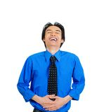 Man laughing Stock Image