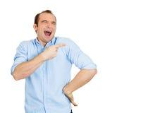 Man laughing Stock Photo