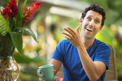 Man Laughing and Gesturing Royalty Free Stock Photo
