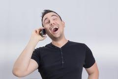 Man laughing Royalty Free Stock Image