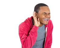 Man laughing at a juicy gossip Royalty Free Stock Photos