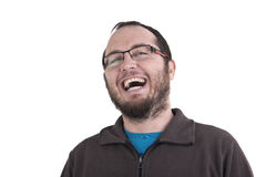 Man laughing out loud Royalty Free Stock Photos