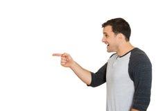 Man laughing, pointing Royalty Free Stock Photos