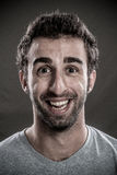 Man laughing. Portrait of Young Man laughing royalty free stock photos