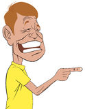 Man laughing of something. Vector illustration Man laughing of something that point with finger Stock Illustration