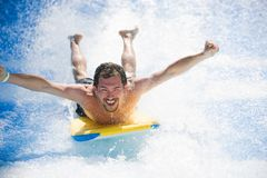 Man having fun on vacation Royalty Free Stock Photography