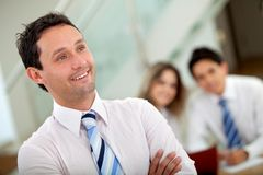 Man leading a business team Royalty Free Stock Photo