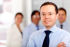 Man leading a business team Royalty Free Stock Images