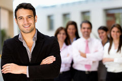 Man leading business team Stock Images