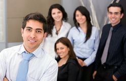 Man leading a business team Royalty Free Stock Image