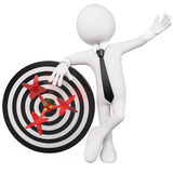 Man leaning on a target Royalty Free Stock Photo
