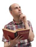 Man learning English Stock Photography