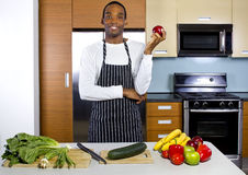 Man Learning How To Cook Royalty Free Stock Image