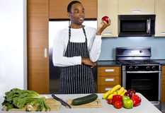 Man Learning How To Cook Stock Photo