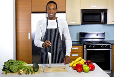 Man Learning How To Cook Royalty Free Stock Photo