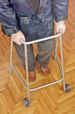 Man learning to walk again Royalty Free Stock Image
