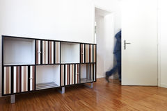 Man leaves the room Royalty Free Stock Photography