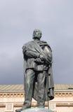 Man of letters. Statue of Petar Preradovic (1818-1872), Croatian poet, on the Preradovic Square in Zagreb Royalty Free Stock Image