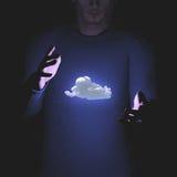 Man levitates cloud Stock Photos
