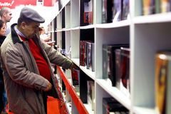 Man in library stock image