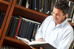 Man at the library Stock Image