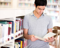 Man at the library Stock Photos