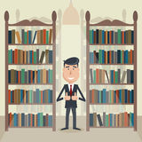 Man in the library. Royalty Free Stock Photography