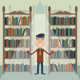 Man in the library. Stock Photography