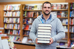 Man in the library Stock Image