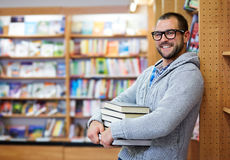 Man in the library Royalty Free Stock Photography