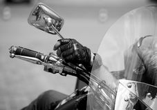 A man lies on his bike and recreation Stock Images