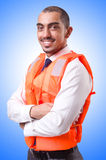 Man in life jacket  Stock Images