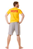 Man lifeguard. Accident prevention. Stock Image