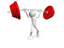 Man lift weight Royalty Free Stock Photo
