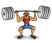 Man lift a weight Stock Photos