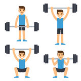 Man lifting barbell Stock Photo