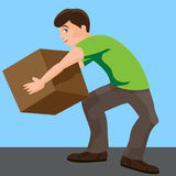 Man Lifting Box Royalty Free Stock Images