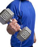 Man lifting dumbbell Stock Photography
